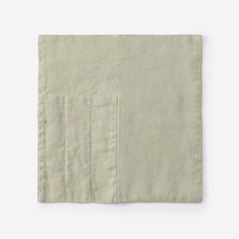 LINEN TALES カトラリーポケット 23cm×23cm ライトグリーン