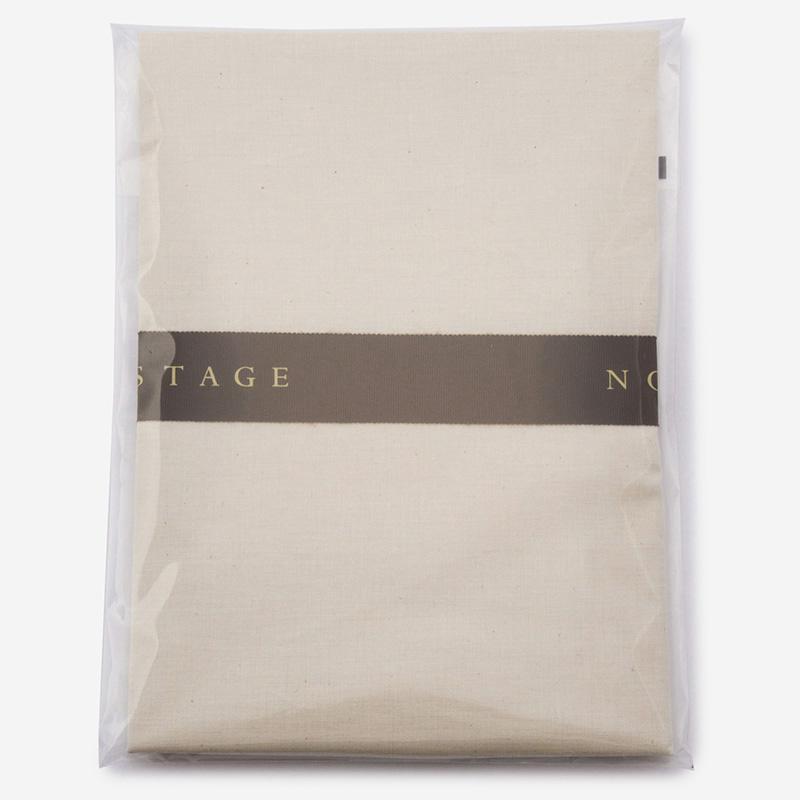 NOSTAGE オーガニック・ボタニカル ベージュ  ピロケース 50cm×70cm