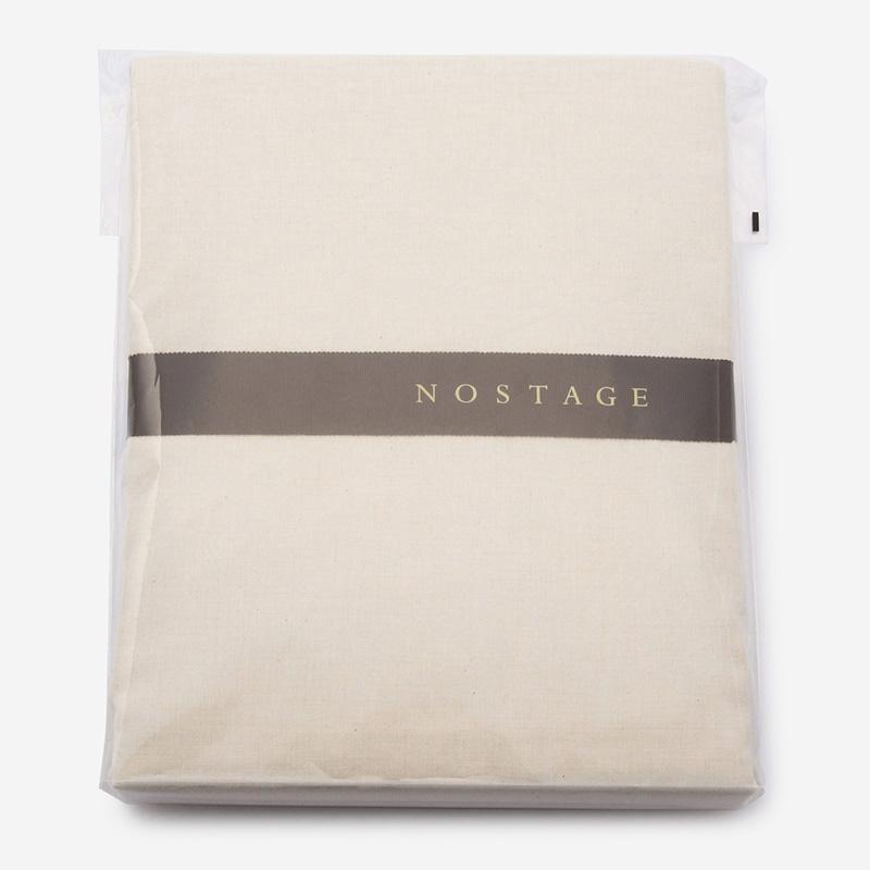 NOSTAGE オーガニック・ボタニカル ベージュ フィットシーツ(セミダブル)120cm×200cm