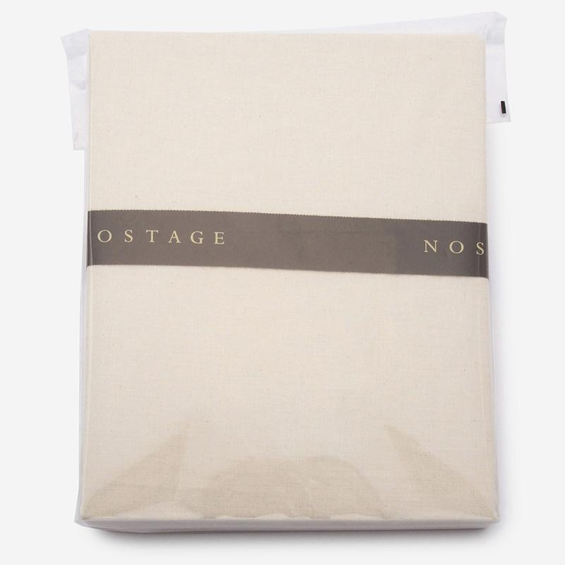 NOSTAGE オーガニック・ボタニカル ベージュ フィットシーツ(ダブル)140cm×200cm