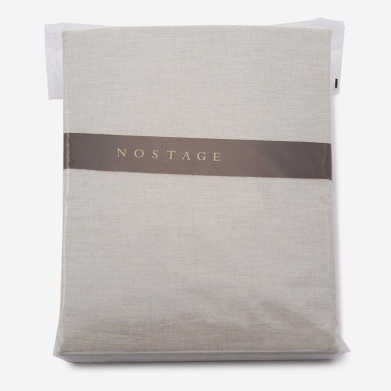 NOSTAGE オーガニック・ボタニカル グレー 布団カバー(クイーン)210cm×210cm