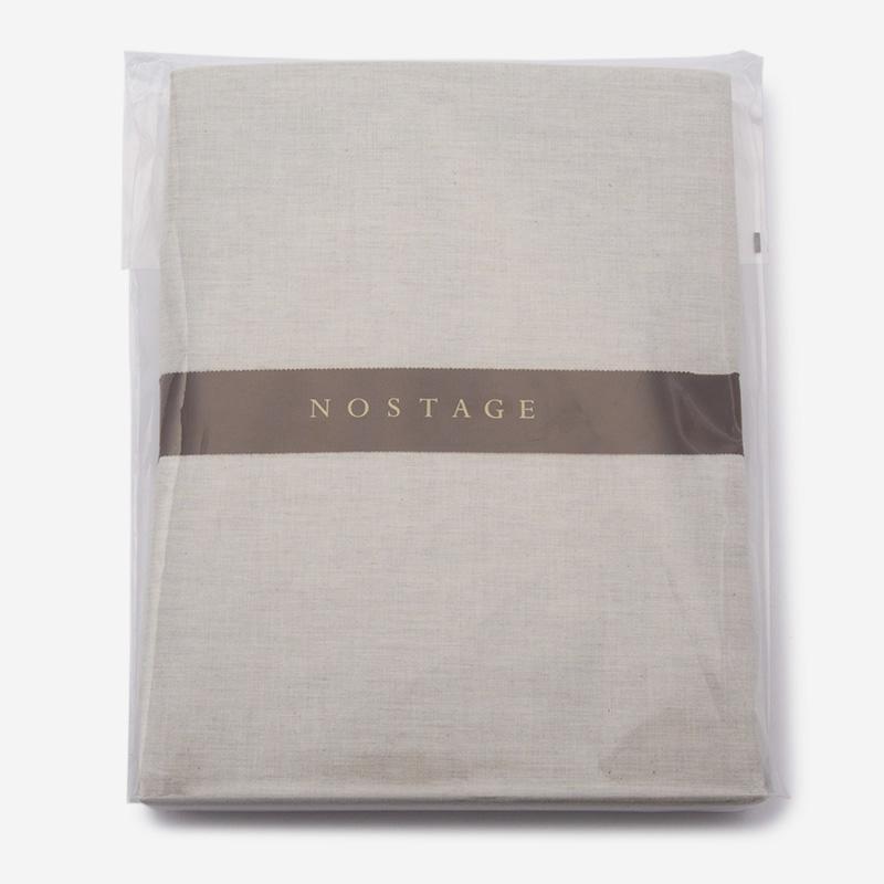 NOSTAGE オーガニック・ボタニカル グレー フィットシーツ(シングル)100cm×200cm