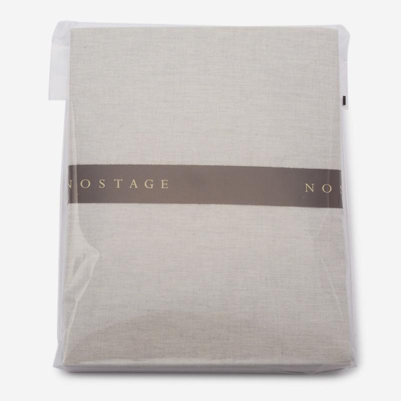 NOSTAGE オーガニック・ボタニカル グレー フィットシーツ(セミダブル)120cm×200cm