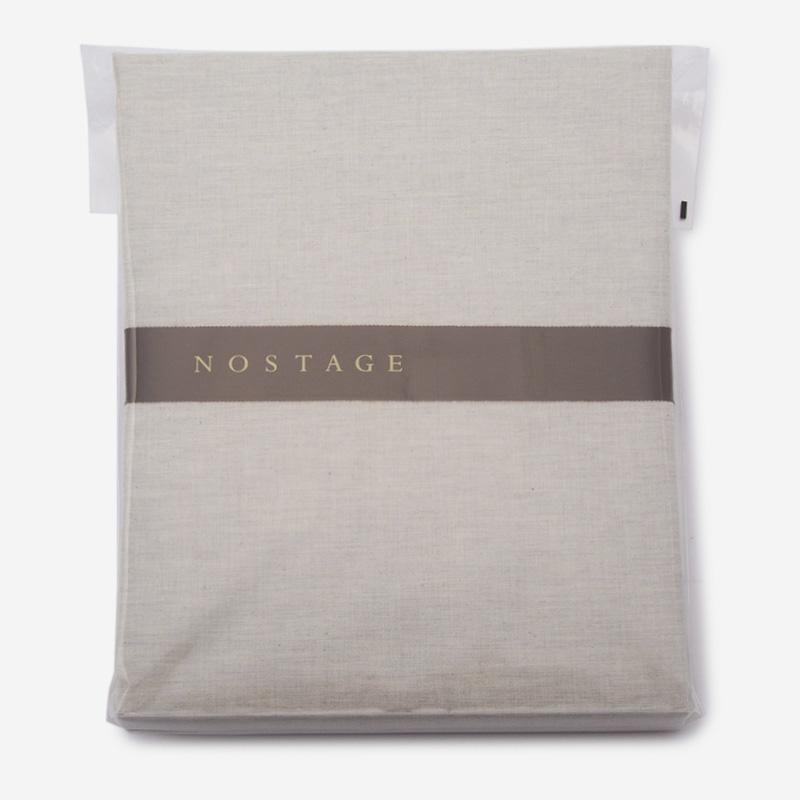NOSTAGE オーガニック・ボタニカル グレー フィットシーツ(クイーン)160cm×200cm