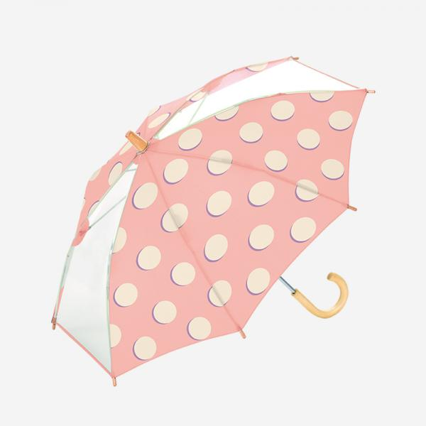 Umbrella 45cm MOON DOTS PINK