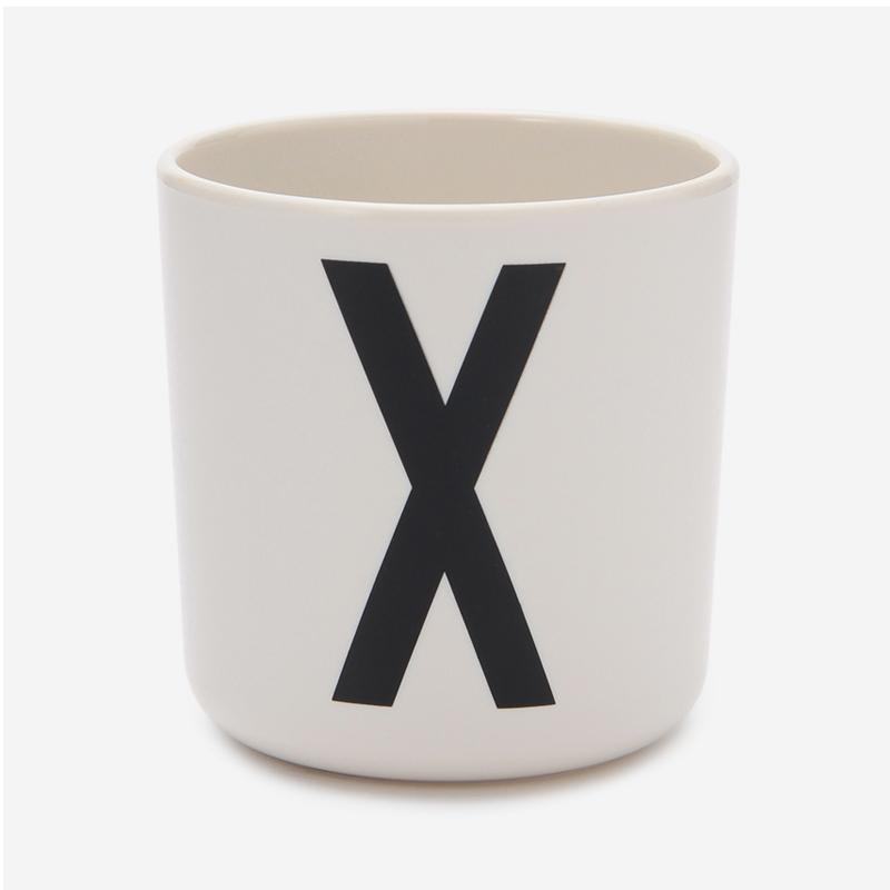 DESIGN LETTERS MELAMINE CUP X