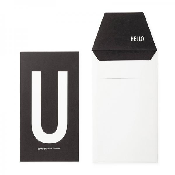 DESIGN LETTERS+Arne Jacobsen GREETING CARD U