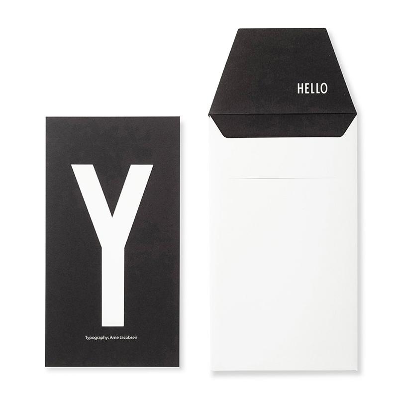 DESIGN LETTERS+Arne Jacobsen GREETING CARD Y