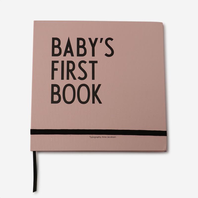 DESIGN LETTERS KIDS BABYS 1ST BOOK ピンク