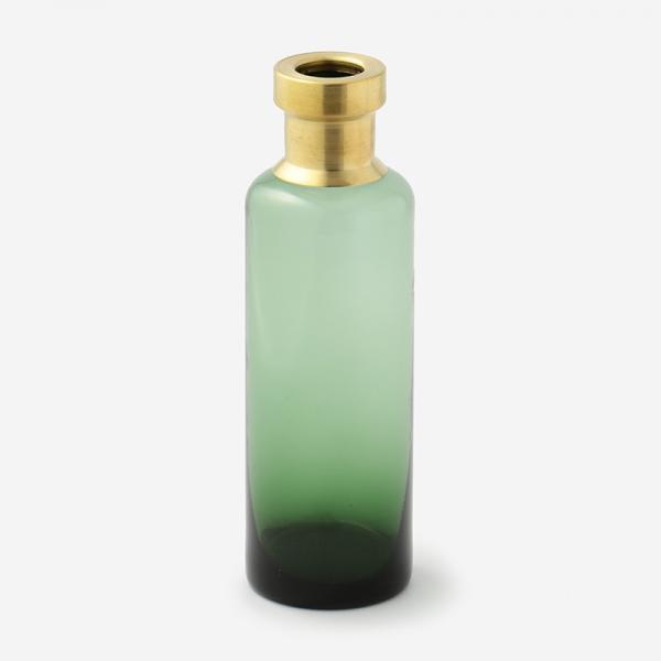 ブラス+カラーガラスベース トール グリーン