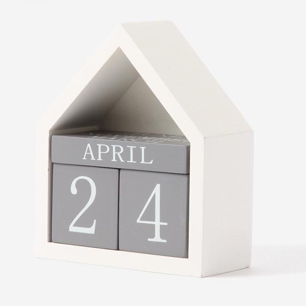Les dou dou bebe HOUSEカレンダー ホワイト/グレー