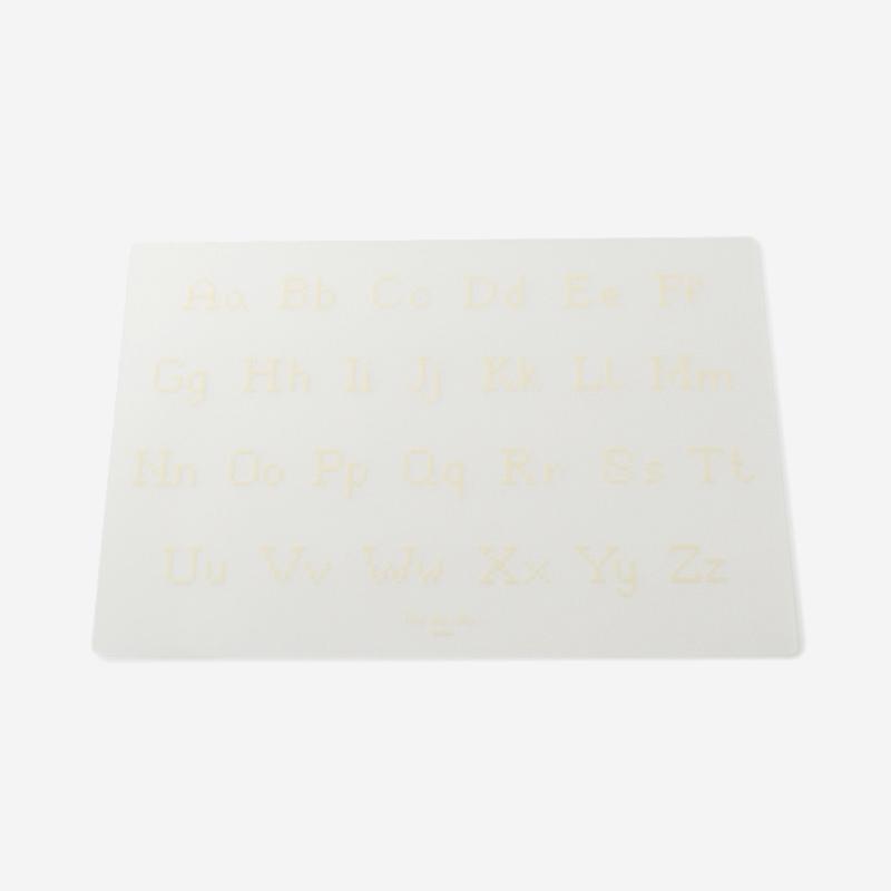 Les Dou Dou bebe テーブルマット アルファベット 31×45cm ホワイト