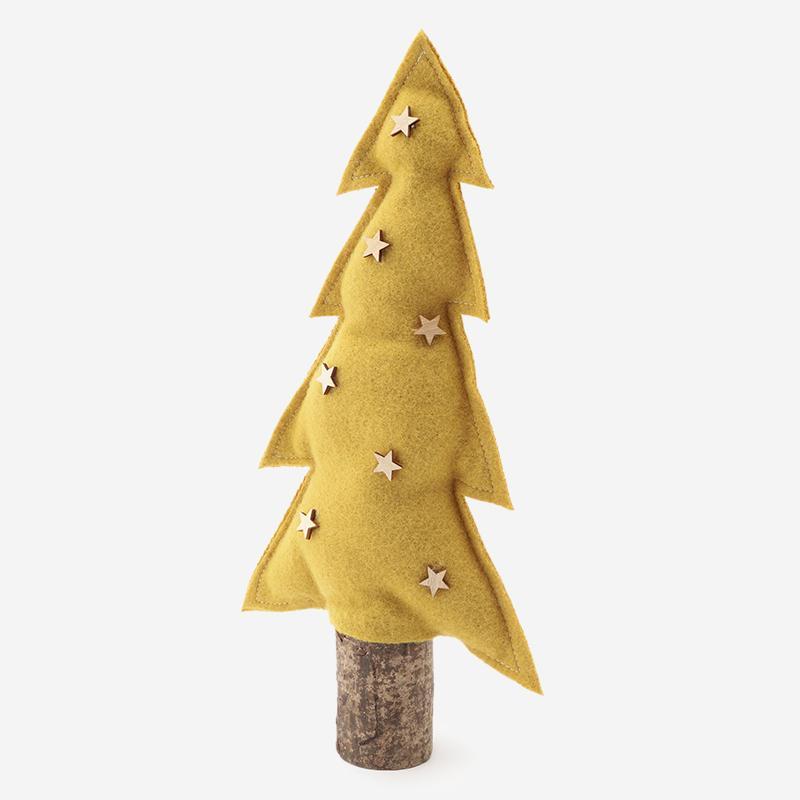 フェルトクリスマスツリー イエロー