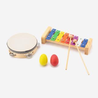 PLAY MAKER タンバリン+メタルホン+エッグ セット(対象年齢6歳~)