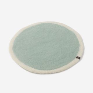 MASKHANE チェアパッド R38cm ホワイト/ライトブルー