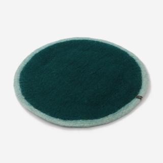 MASKHANE チェアパッド R38cm ライトブルー/ダークグリーン