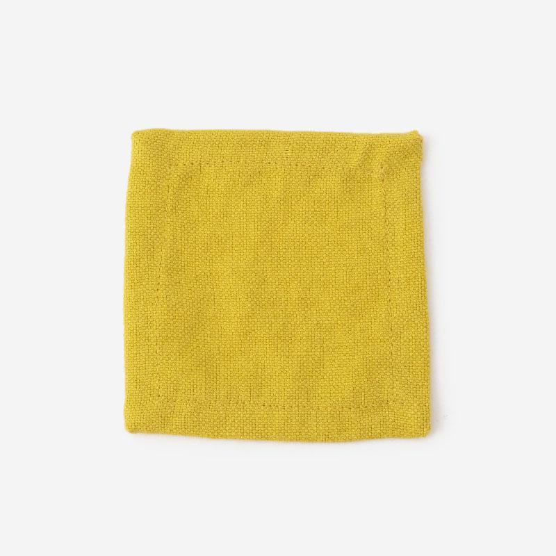 RISE&SHINE BRUNCH リネンコースター 10cm×10cm イエロー