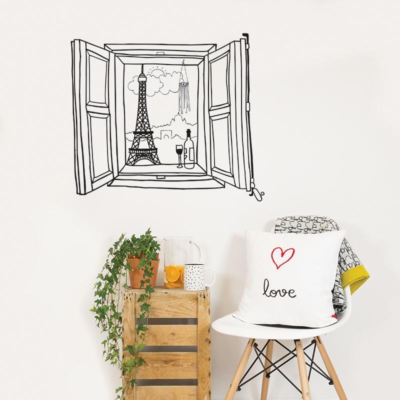 Paris Window ウォールステッカー 58×65cm