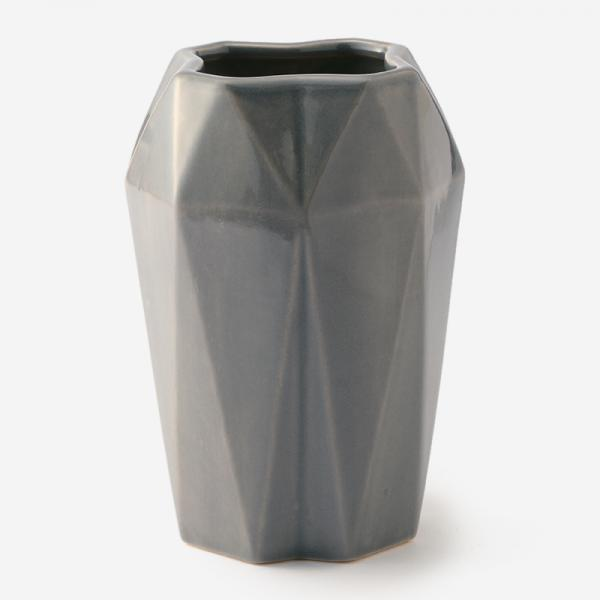 FLUTED M VASE DOVE GREY