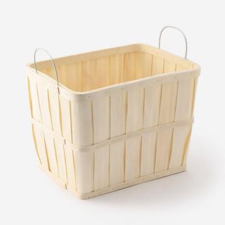 水杉バスケット Lサイズ(アイアンハンドル) 38×28×28