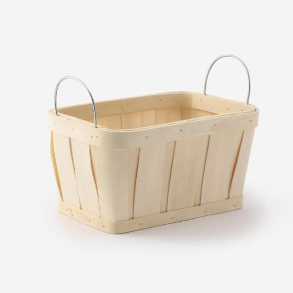 水杉バスケット Sサイズ(アイアンハンドル) 25×17×13