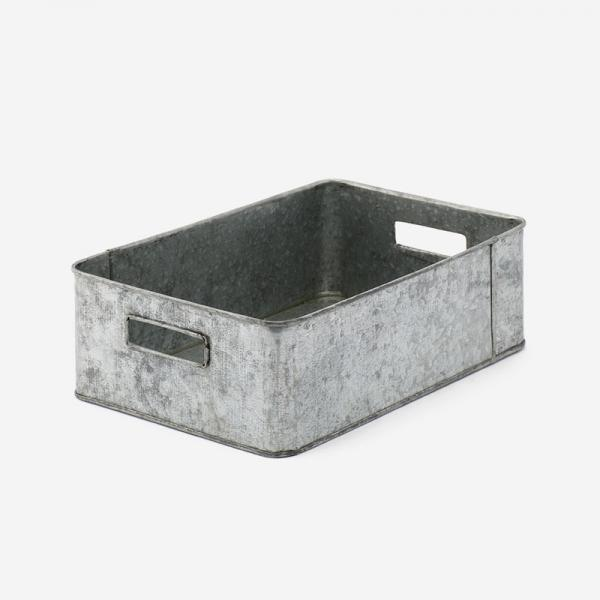ブリキ トレイ深型(フタなし) 30×20×10