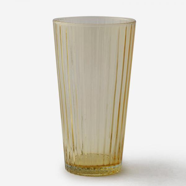 ハンドメイドガラスベース RIB Mサイズ ハニー