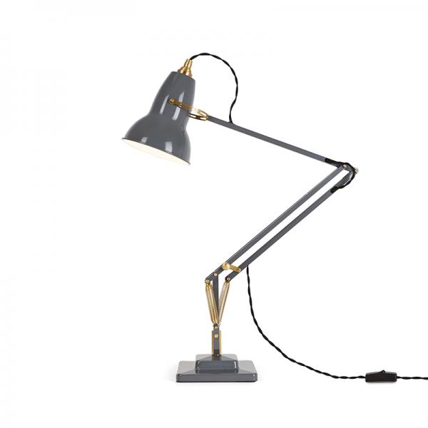 ANGLEPOISE 1227 BRASS DESK LAMP ELEPHANT GREY