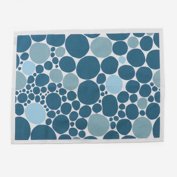 BUBBLAティータオル 47×65cm ブルー