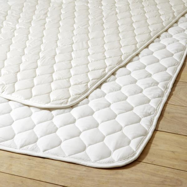 ALL WHITE ベッドパッド ポリエステル100%(ダブル 140×200)