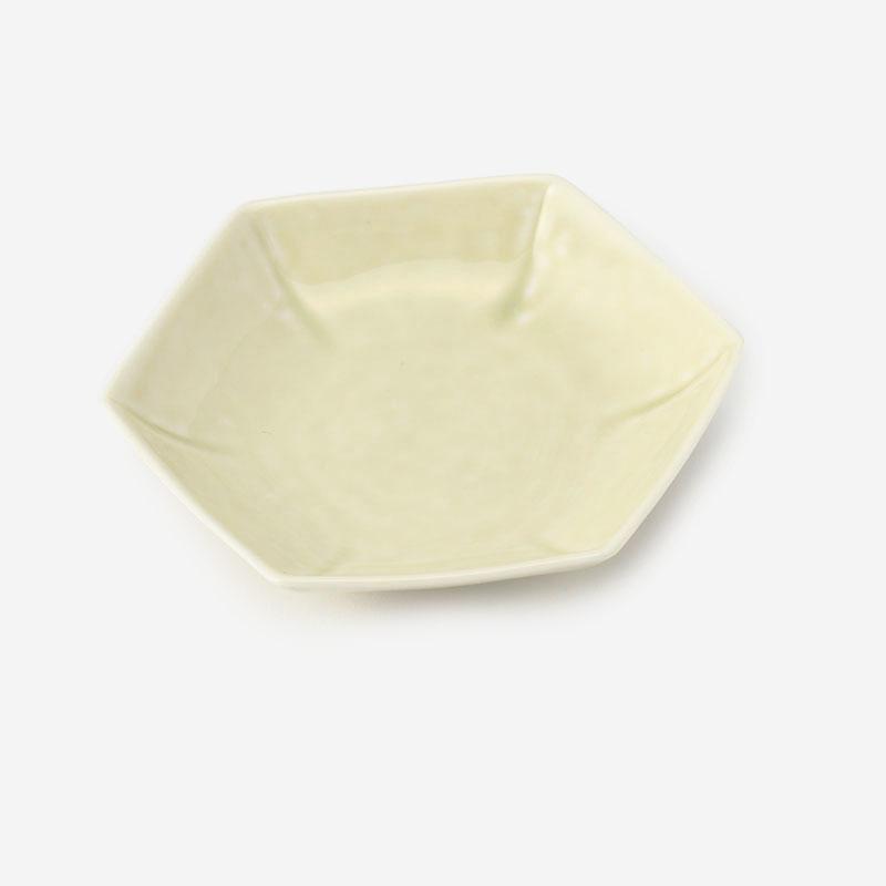 KIHARA 型変わり豆皿 六角 ベージュ