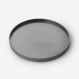 漆器 丸盆 シルバー
