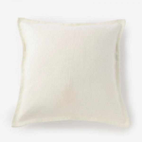 LINENクッションカバー 45cm角 ホワイト