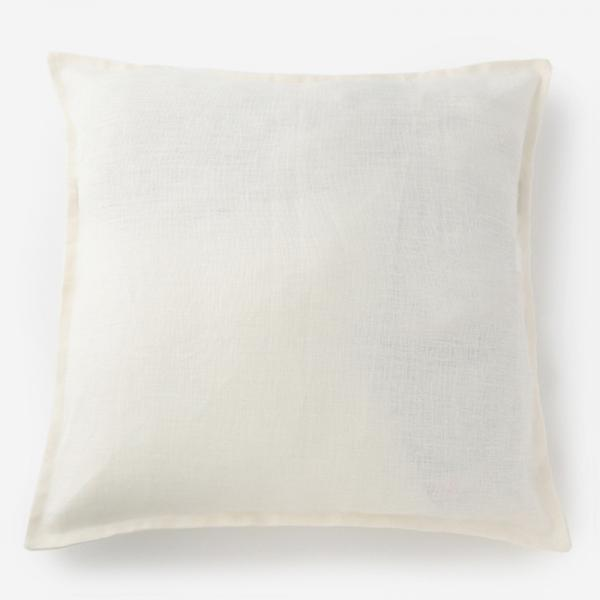 LINENクッションカバー 60cm角 ホワイト