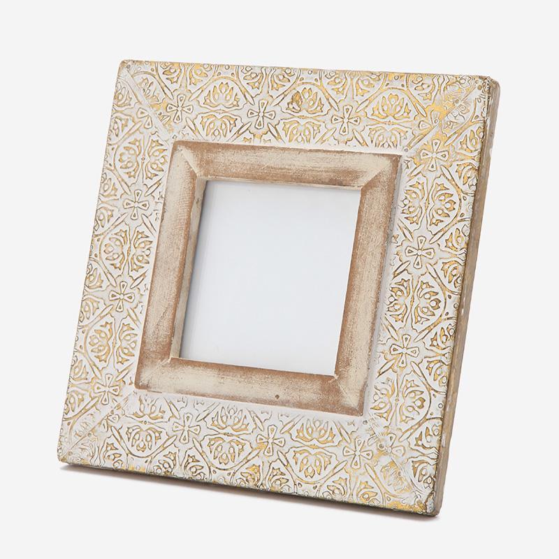 ウッドフォトフレーム ホワイト 4×4