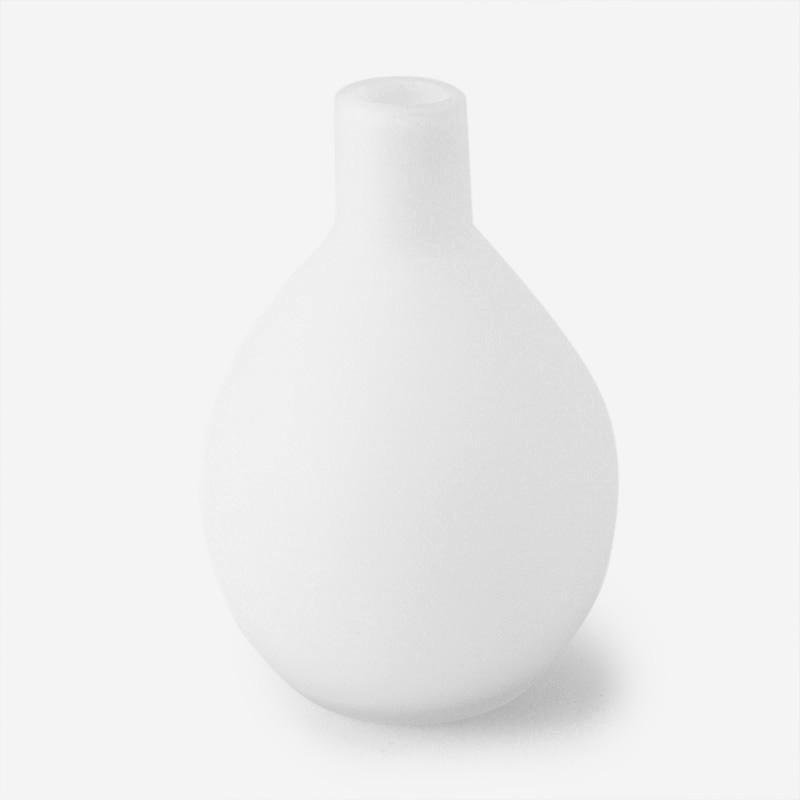 ラウンドフラワーベース  ホワイト H13.5cm