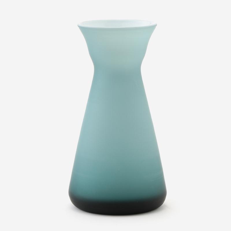 ハンドメイドガラスベース フラスコ オパールグレー