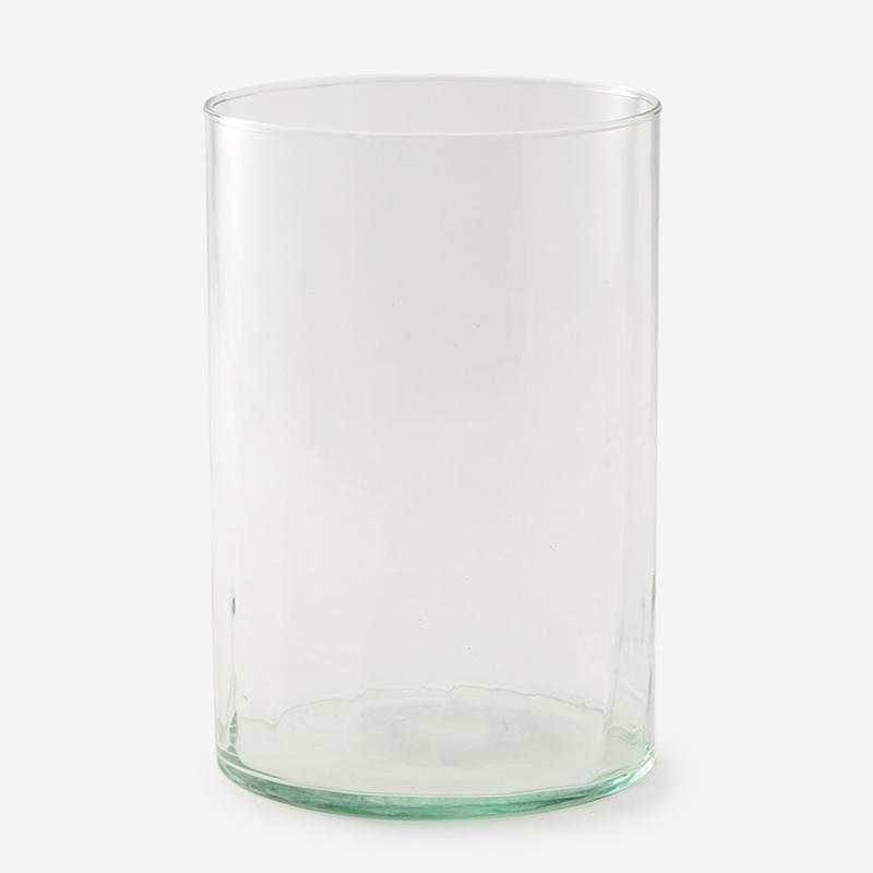 手吹きガラスのハンドメイドベース LINE-B Lサイズ クリア