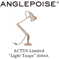 """ANGLEPOISE ACTUS Limited """"Light Taupe"""" debut."""