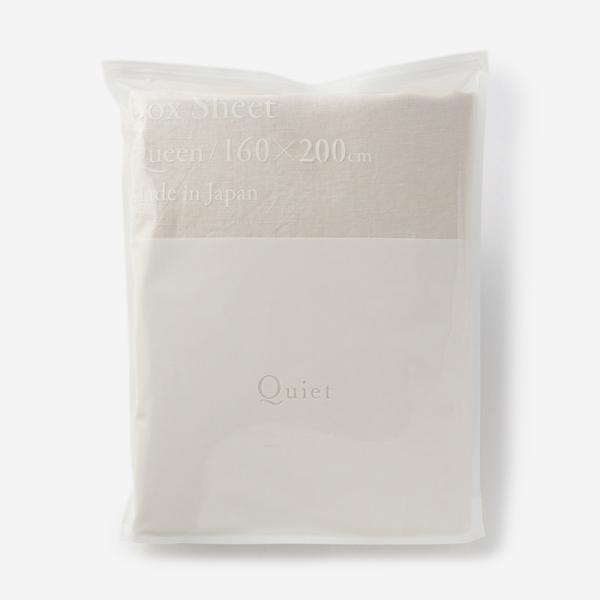 WASH LINEN フィットシーツ(クイーン) 160×200×32 FOG WHITE