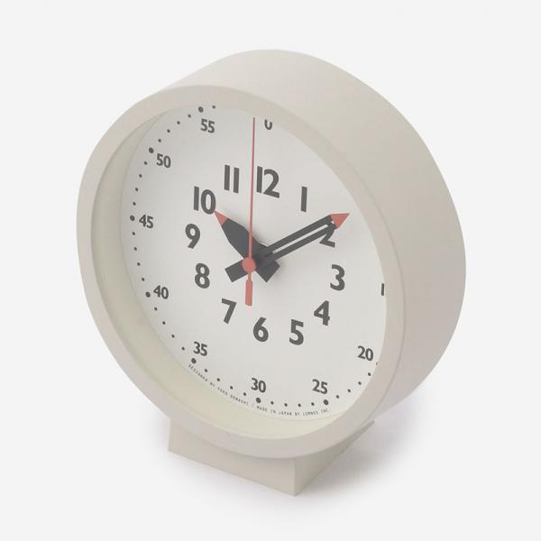 fun pun clock for table R15cm ホワイト
