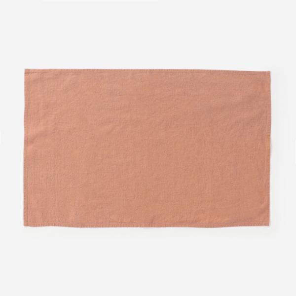 LINEN TALES キッチンタオル 45cm×65cm ライトオレンジ