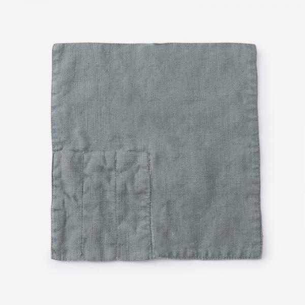 LINEN TALES カトラリーポケット 23cm×23cm ブルー