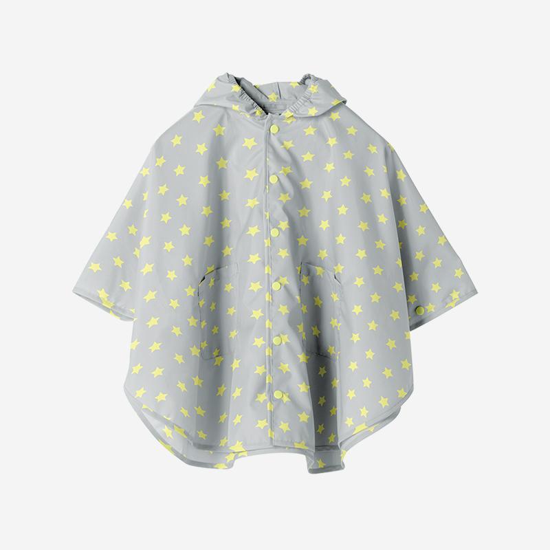 Rain Poncho Mサイズ STAR GRAY