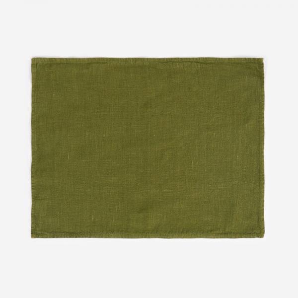 RISE&SHINE リネンテーブルマット 45×35cm オリーブグリーン