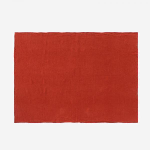 RISE&SHINE リネンテーブルクロス 100×140cm オレンジ