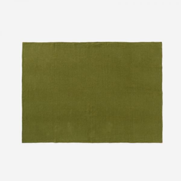 RISE&SHINE リネンテーブルクロス 100×140cm オリーブグリーン