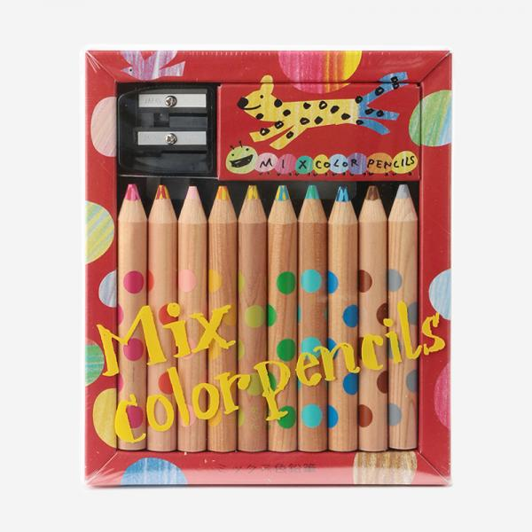WORK&CREATE ミックス色鉛筆10本