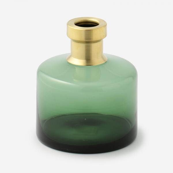 ブラス+カラーガラスベース ワイド グリーン