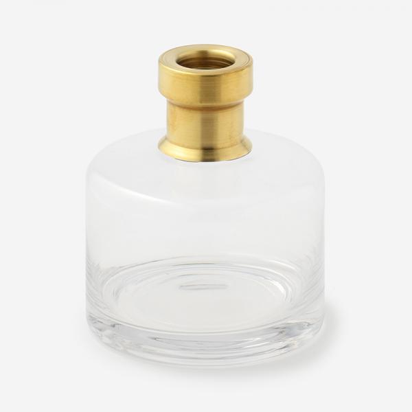 ブラス+カラーガラスベース ワイド クリア